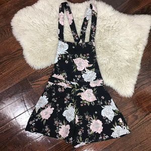 H&M Divided Overall Shortalls Floral Romper Sz 6
